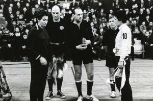 Geriausios rungtynės,Neatvykus aikš.teisėjui ET rungt. Kauno Žalgiris- Rostokp Empor 1966 m.