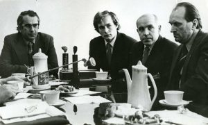 Pres konferencija J.Grinbergas, V.Kontvainys, V.Novickis, A.Kukšta